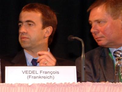 F. Vedel UNITAB titkára és H. Pfanger UNITAB elnöke